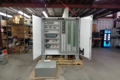 Seimans soda ash processor control cabinet.  This system monitors and controls the soda ash making process