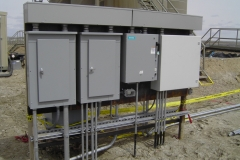 Electrical installation for water disposal system in  Wamsutter
