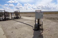 Remote gas well monitor system installation